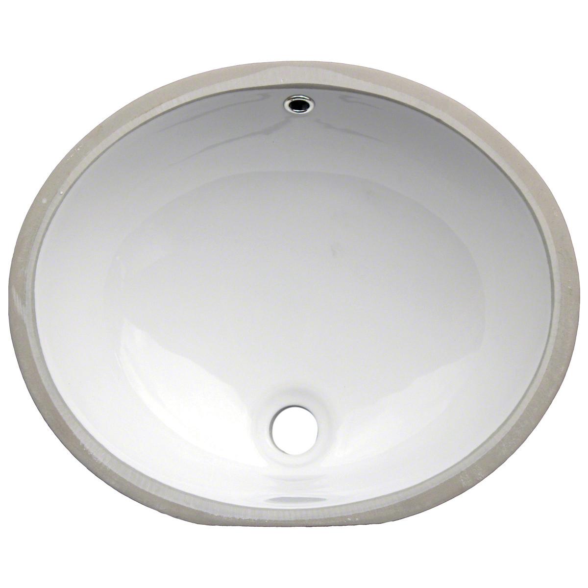 Vanity White Oval