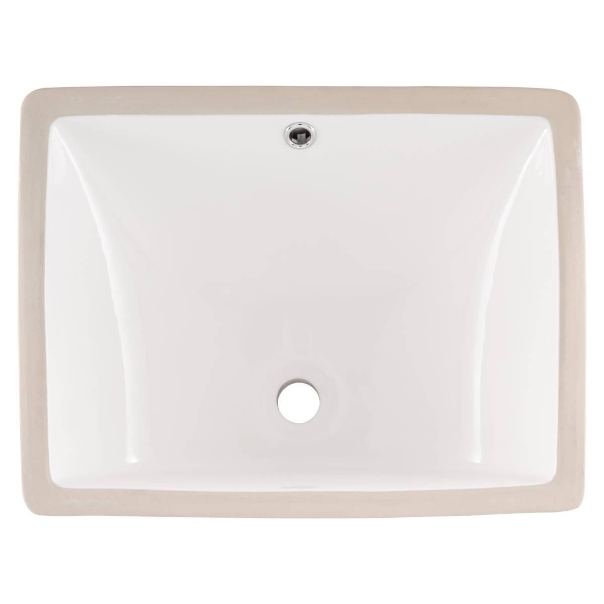 Vanity White Rectangle Ceramic